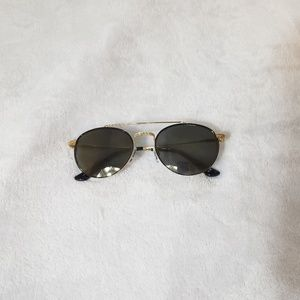 7 For All Mankind Aviator Style Gold Sunglasses